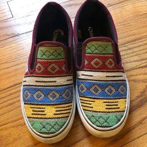 Superga multicolored slip on sneakers
